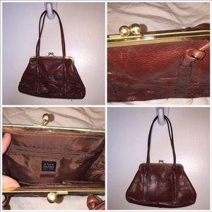 Wilsons Leather Brown Kisslock Purse